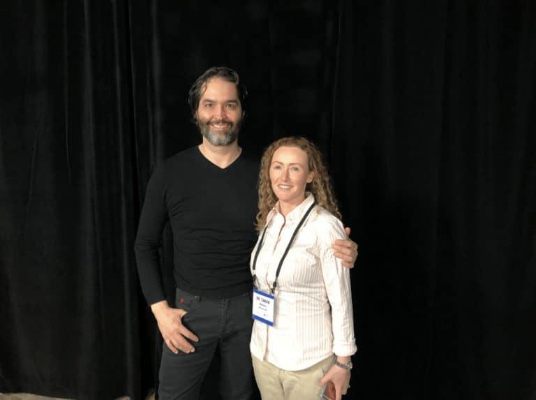 Dr Mauricio de Maio and Dr Sarah Kennea