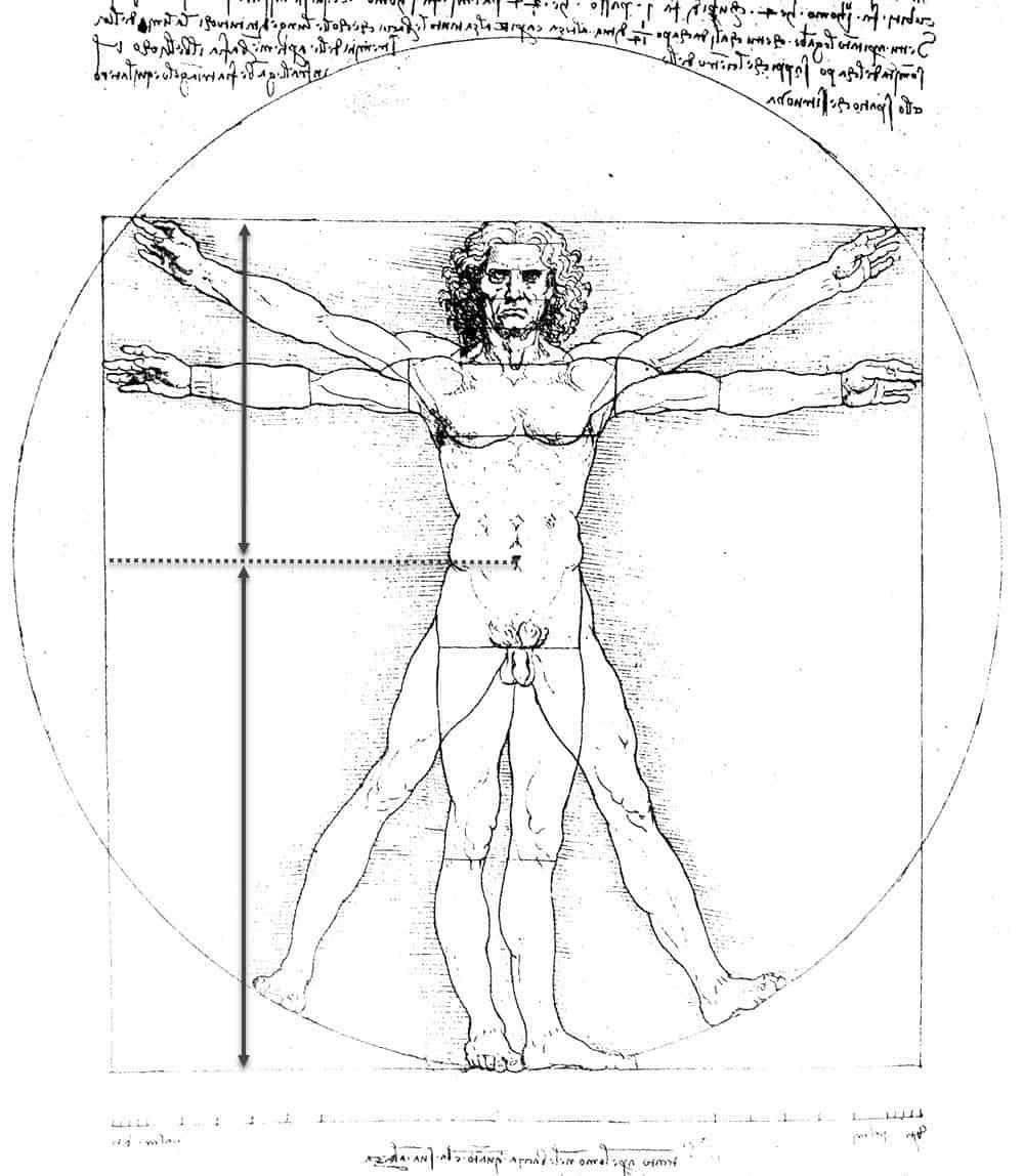 Leonardo Da Vinci Golden Ratio